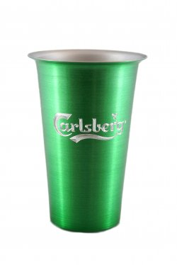 Beer Tumbler, Green. 16 oz.