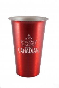 Beer Tumbler, Red. 16 oz.