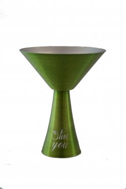 Martini Glass, Lime. 10 oz.