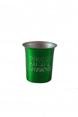 Shot Glass, Green. 2 oz.