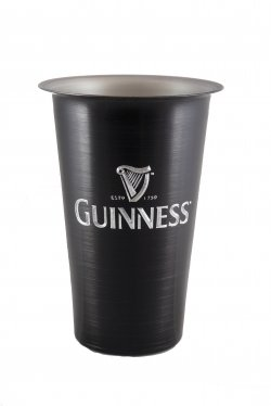 Beer Tumbler, Black. 16 oz.