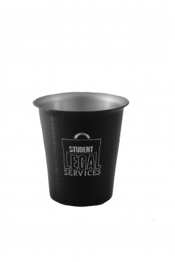 Juice Tumbler, Black. 8 oz.