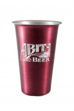 Beer Tumbler, Purple. 16 oz.