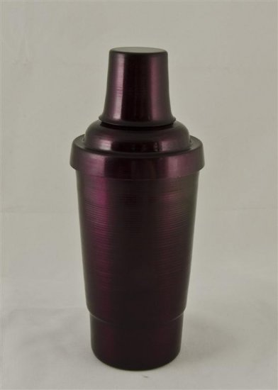 Cocktail Shaker, Purple.16oz.With top, strainer, and cap. - Click Image to Close