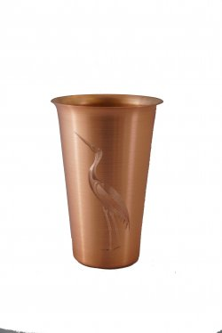 Solid Copper Beer Tumbler. 16 oz.