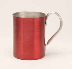 Aluminum Mug, Red. 14oz.