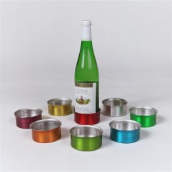 Wine Bottle Coasters. Set of 8.