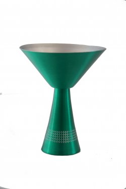 Martini Glass, Green. 10 oz.