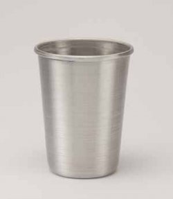Aluminum Tumbler with Rolled Top, Silver. 12 oz.