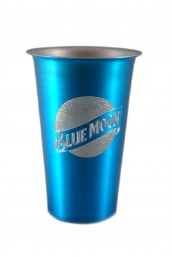Beer Tumbler, Blue 16 oz.