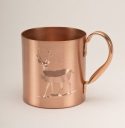Solid Copper Moscow Mule Mug. 18 oz.